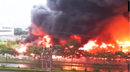 Video: Cháy lớn tại khu công nghiệp Yên Phong, Bắc Ninh