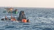 Video: Tìm thấy thi thể một ngư dân tàu cá Bến Tre bị chìm ở Côn Đảo