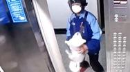 Video: Người giao hàng nhanh tay cứu 'cún cưng' bị treo cổ trong thang máy