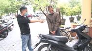 Video: Bắt nghi phạm trộm xe máy rồi thay đổi màu sơn từ đỏ sang đen