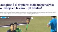 Video: Xem lại màn thách thức trọng tài của thủ môn Cần Thơ, 'được' lên báo nước ngoài