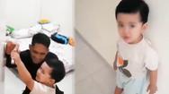 Video: Hình ảnh con trai khóc, ngăn cản bố lên tàu ngầm KRI Nanggala 402 làm nhiệm vụ