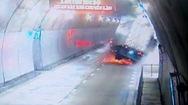 Video: Container nát đầu trong hầm Hải Vân 2, tia lửa bắn tung tóe