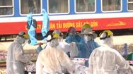 Video: 'Chuyến tàu yêu thương' chở 384 người dân Quảng Trị về quê tránh dịch