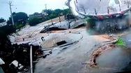 Video: Khoảnh khắc bể chứa nước ở Ấn Độ bất ngờ đổ sập khiến xung quanh ngập nước