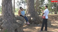 Ao Bà Om hấp dẫn đông đảo du khách trong ngày lễ