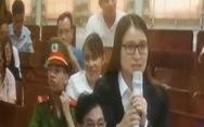 Clip diễn viên Quỳnh Tứ lại khóc nức nở tại phiên tòa OceanBank