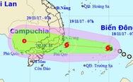 Bão số 14 cách bờ biển Khánh Hòa, Bình Thuận 620 km