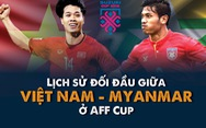 Myanmar là đối thủ 'ưa thích' của Việt Nam ở AFF Cup