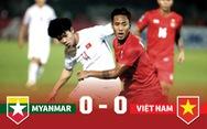 Thống kê trận Việt Nam hòa Myanmar 0-0