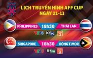 Lịch truyền hình AFF Cup 2018: Philippines quyết đấu Thái Lan