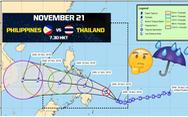 Bão đã đi qua nơi tổ chức trận Philippines - Thái Lan