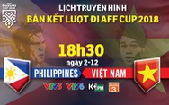 Lịch truyền hình bán kết AFF Cup 2018: Việt Nam đối đầu Philippines