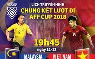 Lịch truyền hình chung kết lượt đi AFF Cup 2018: VN tự tin làm khách của Malaysia