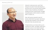 HLV Park nói với báo Hàn: 'Tôi phải giữ lời hứa với người dân Việt Nam''