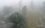 Nhiệt độ xuống âm 0,5 độ, băng giá xuất hiện tại Mẫu Sơn