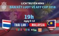 Lịch trực tiếp bán kết lượt về AFF Cup 2018