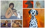 Họa sĩ Việt tung tranh vẽ chó đón năm Mậu Tuất