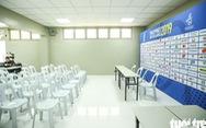 Phòng họp báo bóng đá nam SEA Games đã không còn ở nhà kho