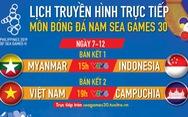 Lịch thi đấu bán kết bóng đá nam SEA Games 2019