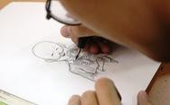 Bạn trẻ vẽ tranh tặng bệnh nhi ung thư hưởng ứng Ngày hội hoa hướng dương