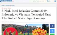 'Việt Nam thách đấu Indonesia trong trận chung kết SEA Games'