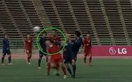 Báo châu Á 'sốc' với cú đá của cầu thủ Thái vào mặt Hữu Thắng