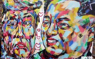 Lãnh đạo Mỹ và Triều Tiên trong thông điệp hòa bình của họa sĩ Việt