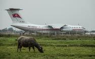 Cận cảnh 'ngựa thồ' Il-76 của phái đoàn Triều Tiên