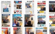 Trang nhất báo Pháp nói gì về vụ cháy Nhà thờ Đức Bà Paris?
