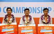 Ba gương mặt trẻ dự giải Vô địch tin học văn phòng thế giới