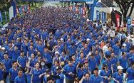 Hàng ngàn VĐV dự Giải việt dã hưởng ứng 'Ngày không tiền mặt'