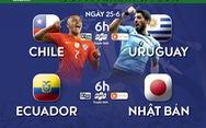 Lịch trực tiếp Copa America 2019: Đại chiến Chile và Uruguay