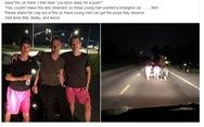 3 thiếu niên đẩy xe hơi bị hỏng suốt 8 cây số giúp một phụ nữ