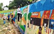 Độc đáo con đường bích họa ở thủ phủ sâm Ngọc Linh