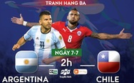 Lịch trực tiếp tranh hạng 3 Copa America 2019: Argentina - Chile