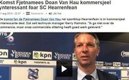 Giám đốc kỹ thuật FC Heerenveen: 'Đoàn Văn Hậu là một cầu thủ rất giỏi'