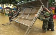 Nhiều trường lớp chìm trong nước lũ