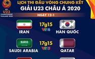 Lịch trực tiếp Giải U23 châu Á 2020 ngày 12-1: Trung Quốc đụng độ Uzbekistan