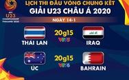 Lịch trực tiếp VCK U23 châu Á 2020: Thái Lan gặp Iraq