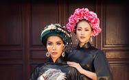 Hoa hậu Phương Khánh, Minh Tú khoe sắc trong bộ sưu tập áo dài 'Bay lả bay la'