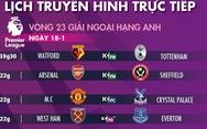 Lịch trực tiếp bóng đá châu Âu ngày 18-1: Tottenham, Arsenal, Man City, Chelsea xuất trận