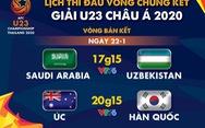 Lịch trực tiếp bán kết Giải U23 châu Á 2020: Úc - Hàn Quốc