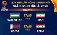 Lịch trực tiếp U23 châu Á 2020 ngày 9-1: Tâm điểm Hàn Quốc - Trung Quốc