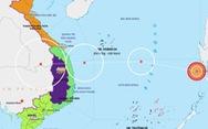 Áp thấp nhiệt đới đã vào Biển Đông, hướng vào miền Trung
