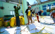 Cùng Tuổi Trẻ dựng lại mái nhà, mái trường cho vùng bão lũ
