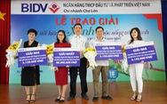 BIDV Chợ Lớn trao giải 'Gửi tiết kiệm Xanh, cuộc sống trong lành'