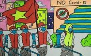 'Cùng áo xanh thắng nhanh COVID-19' qua bộ tranh dí dỏm