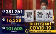 Dịch COVID-19 trưa 24-3: Đông Nam Á tăng số ca nhiễm, Tây Ban Nha, Iran tăng số tử vong