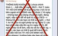Thông tin TP.HCM sẽ phong tỏa 14 ngày kể từ 28-3 là hoàn toàn bịa đặt